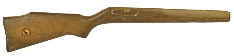 Stock, Plain Hardwood, Early Type Safety, Inletted For Guard, Medallion Cut