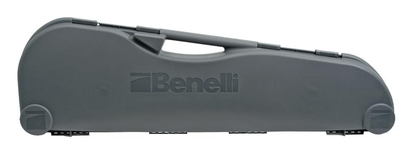 Hard Case, Gray, w/ Foam Lining, Sliding Cover Locks & Benelli Logo, New