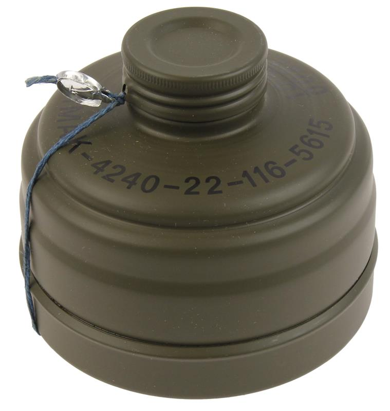 Filter Canister for German M38 Gas Mask, New (1980'S Issue Dated)