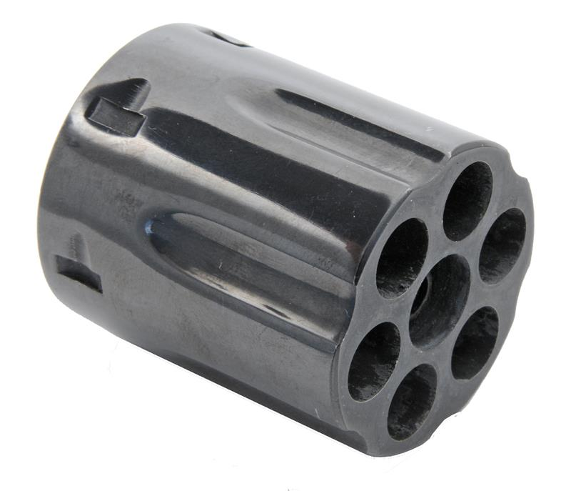 Cylinder Assembly,.357 Mag,6 Shot,LH Thread,Counterbored, Blued w/o Gas Ring
