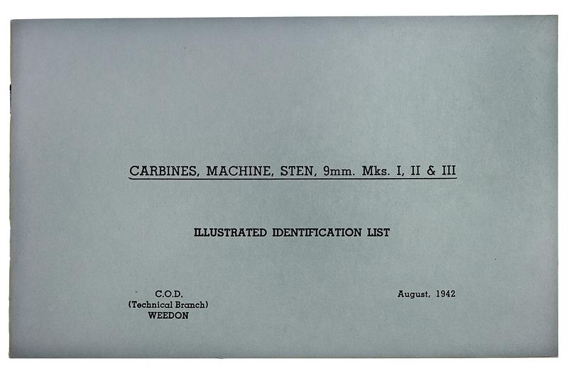 Carbines, Machine, Sten 9mm Mks I,II,III Illus. ID List