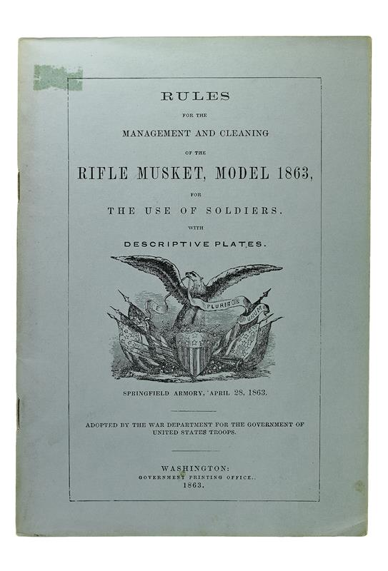 Rules for the Management & Cleaning of the Rifle Musket, Model 1863, New
