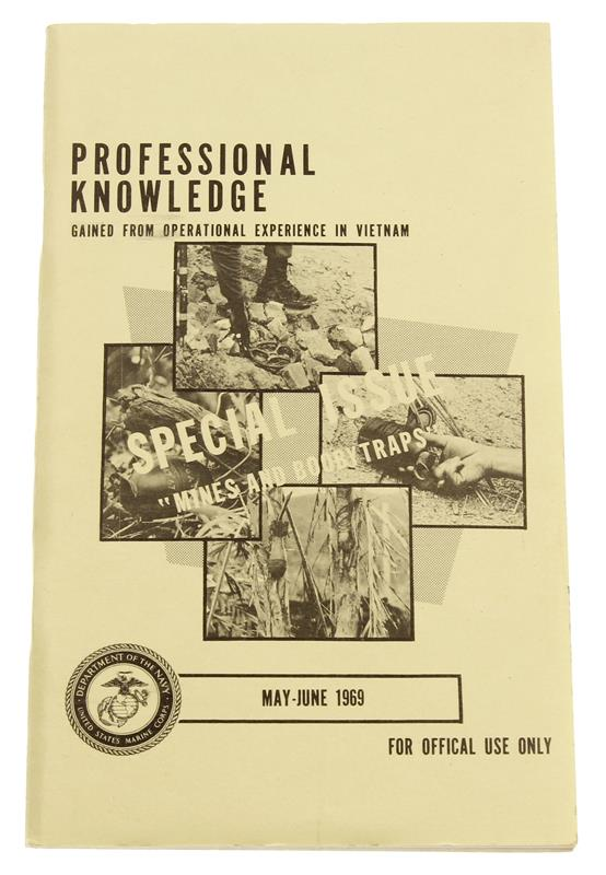 Professional Knowledge Mines & Boobytraps Book, May - June 1969