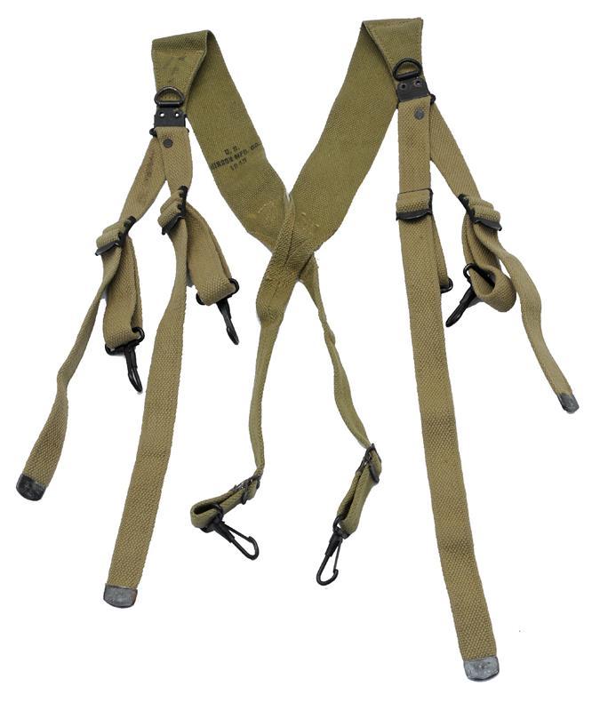 Suspenders, Combat, WWII G.I. M1936, Used