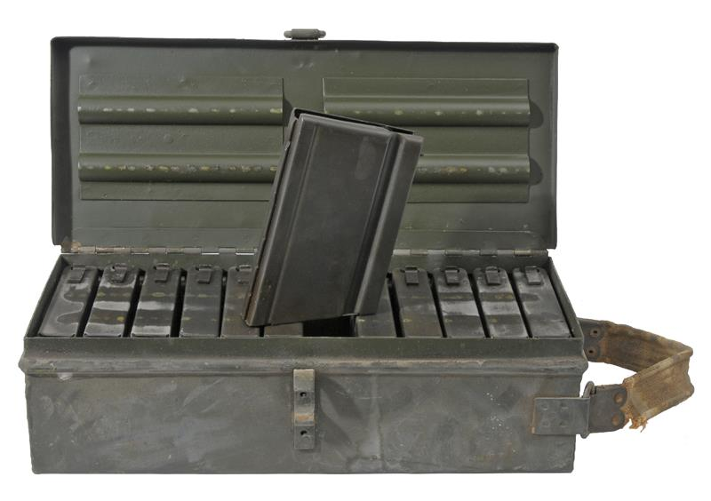 Magazine, Israeli Dror LMG, 8mm, 20 Round, Used (Case of 12 In Orig Steel Box)