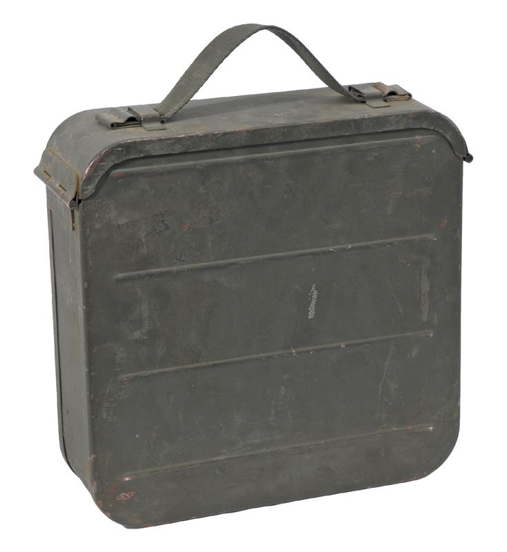 Ammo Can, 7.62 x 54R, OD Steel, Maxim 1910 Orig Russian Surplus, Used Good to VG