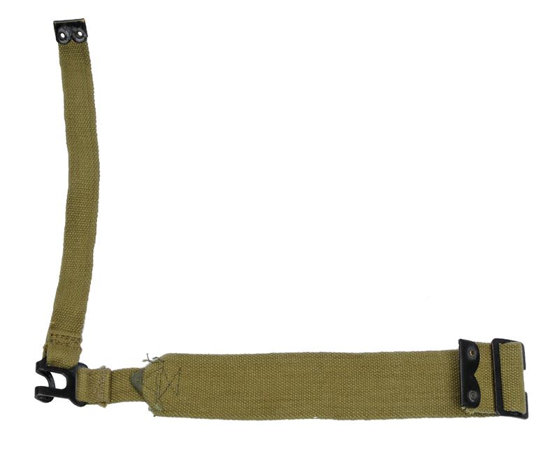 L-Strap, LH, Khaki Web, For Attachment to British WWII P37 Lrg & Small Haversack