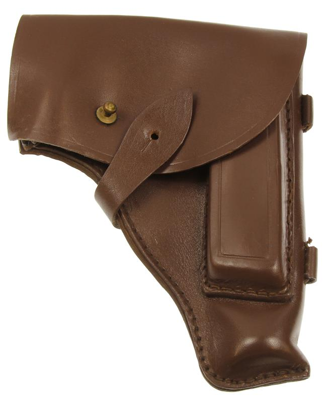 Holster, Flap, Russian 1980's, Brown Leather, Used (Very Good to Excellent)