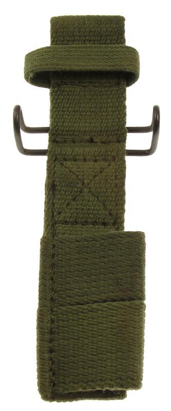 Bayonet Frog w/U.S. G.I. Belt Clip, OD Canvas (For Tubular Hilt Bayonets) New