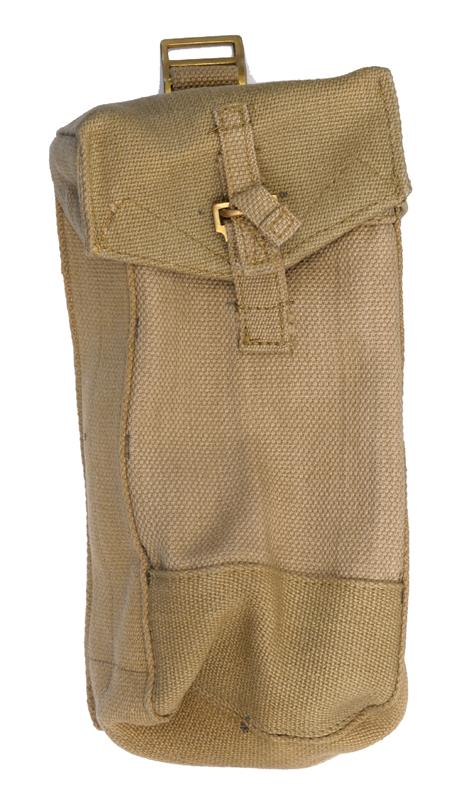 Magazine Pouch w/ Strap & Loop Closure, Canvas, WWII Era, Good to VG