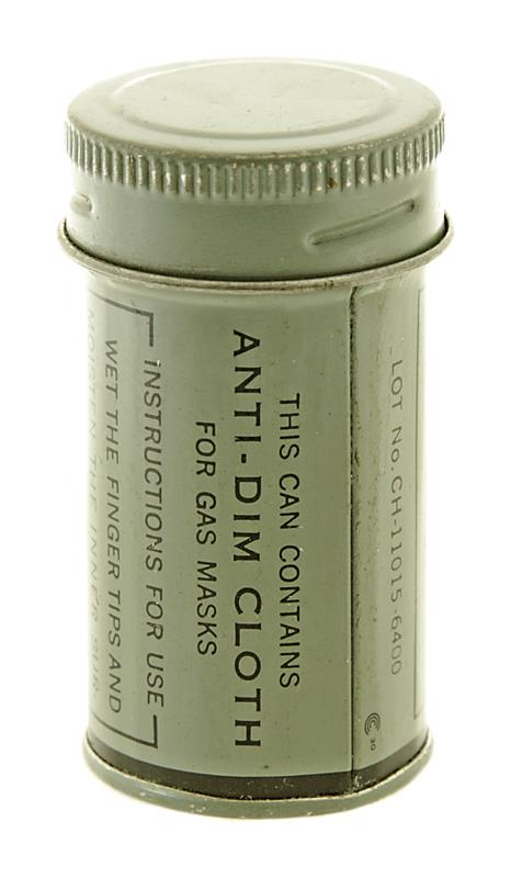 Anti-Dim Cloth for Gas Masks (New in Grey Metal Container)