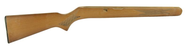 Stock, Straight Comb, Press-Checkered Hardwood w/ Buttplate, .22 LR