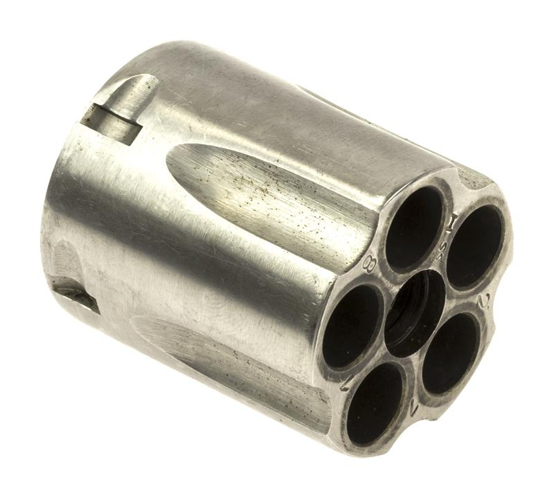 Cylinder Assembly, .38 Spec, 5 Shot, LH Thread, Stainless