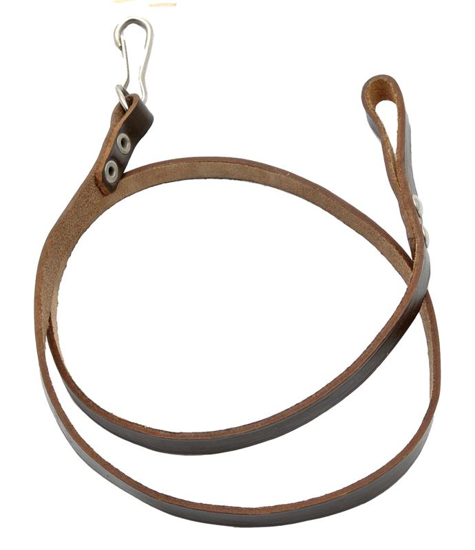Lanyard w/ Loop & Snap-Hook, Dark Brown Leather, New Original Russian Issue