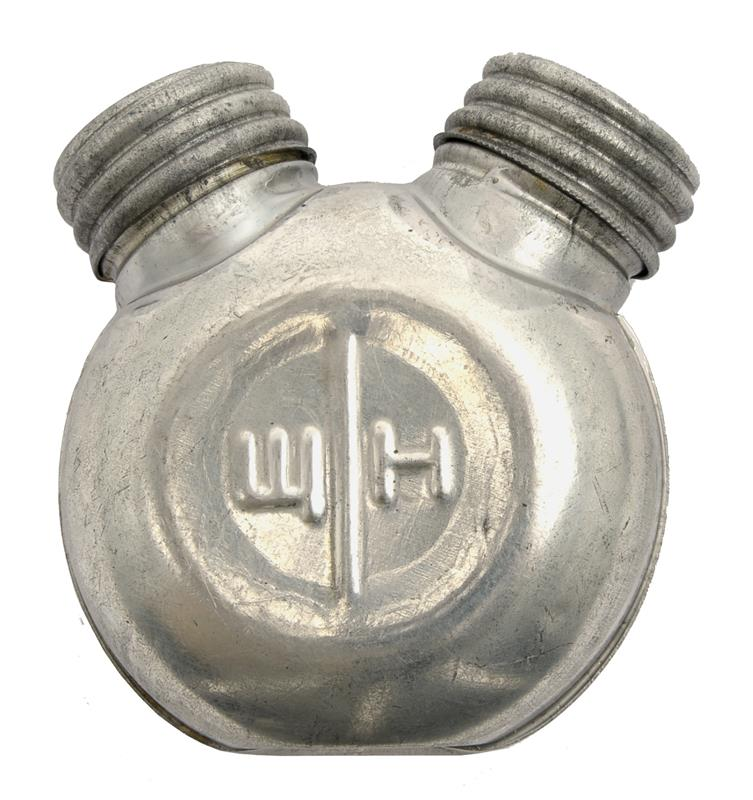 Oil Bottle, Round Metal, Dual Compartment, Late Soviet Issue, New