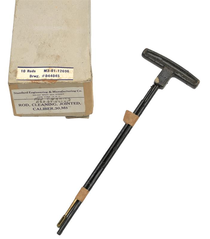 Cleaning Rod Set, M8, Box of 10, WWII, U.S. Military Contract, Unissued