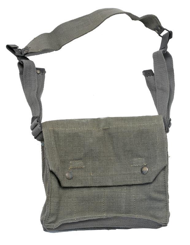 Magazine Pouch, NATO SMG, 4 Pocket, OD Canvas, Designed to Hold 8 Magazines