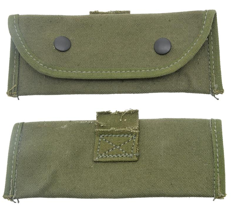 Grenade Launcher Sight Pouch, M15, Damaged, Belt Clip Removed, Sold As Is