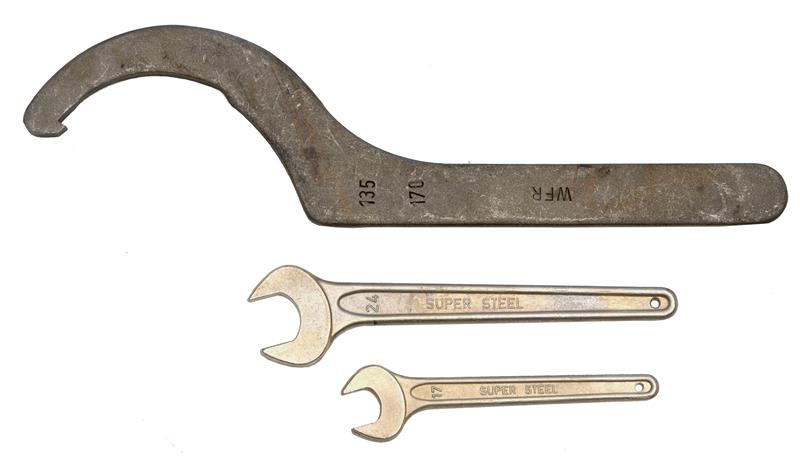 Wrench Set, Includes 3 Wrenches Size 17mm, 24mm & 135/170mm, Unissued