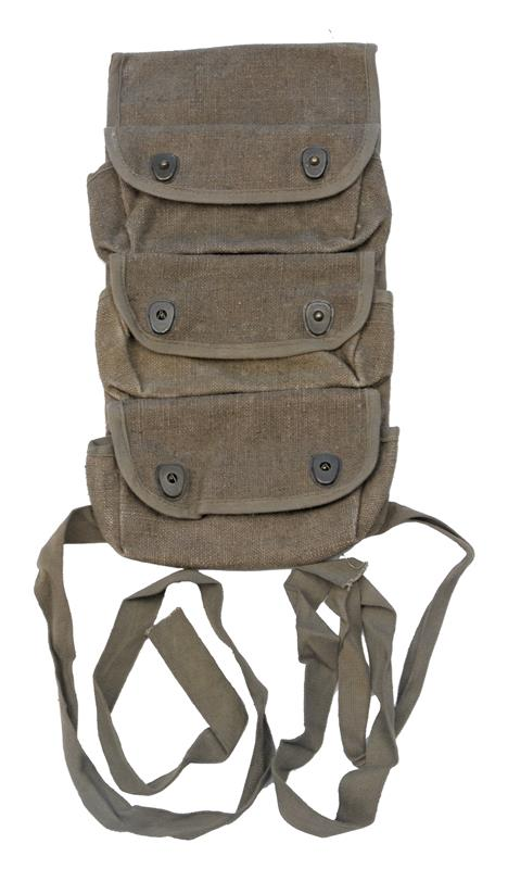 Grenade Pouch, 3 Pocket, French Military, Unissued