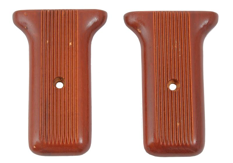 Rear Grip Panels, Wooden, Pair, Unissued