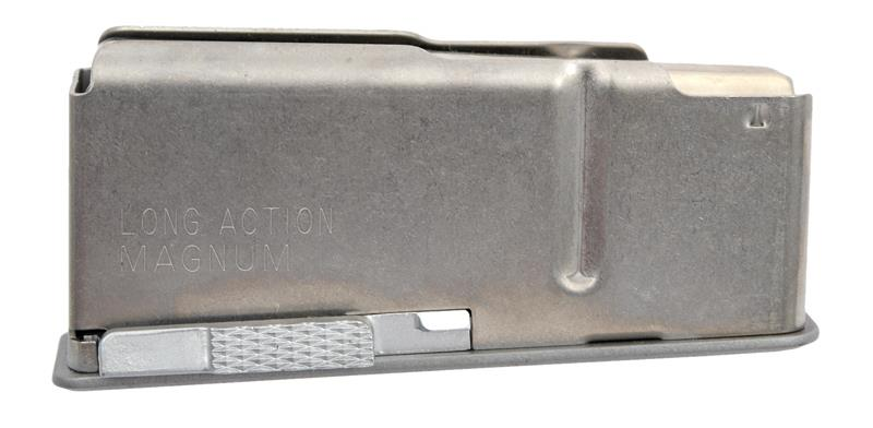 Magazine, Long Action Magnum, 3 Round, Stainless, New (Factory)