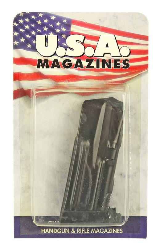 Magazine, 9mm, 10 Round, Blued, New (w/ Polymer Base; U.S.A. Brand)