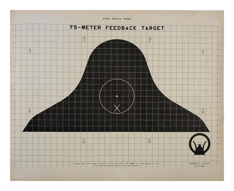 Targets, 75 Meter, Feedback, M16A1, Paper, 24
