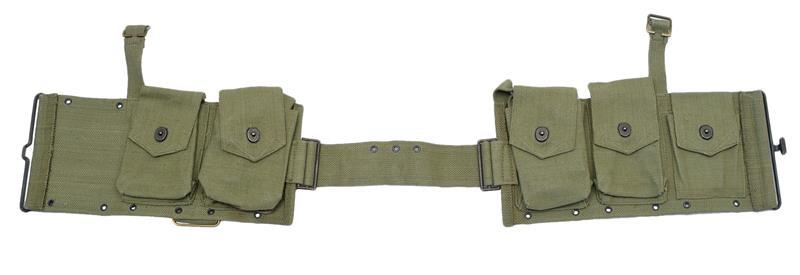Magazine Belt Pouch, Canvas w/ 5 Pockets, Adj.Waist Band & Suspension Straps