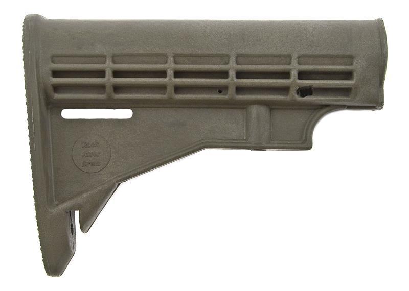 Stock, Collapsible, Stripped, Manufactured by Rock River Arms, Olive Drab