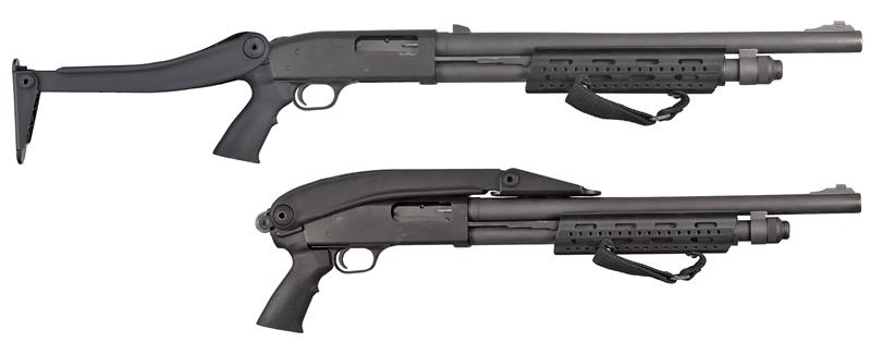Stock, 12 Ga., Tactical Top Folding, Black w/Pistol Grip & Sling Swivel Stud