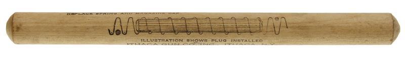 Duck Plug, 20 Ga., Wood, Used Factory Original