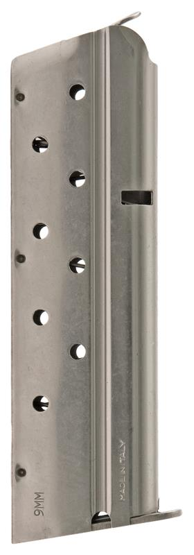 Magazine, 9mm, 9 Round, Nickel, New (Mec-Gar)