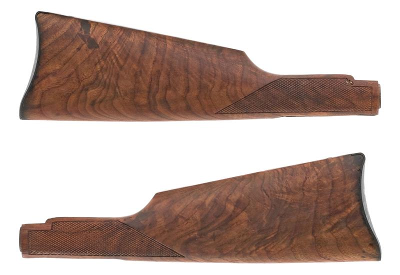 Stock w/ Saddle Ring Carbine Buttplate, No Medallion Cut, Refinished, Checkered