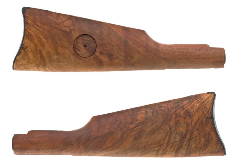 Stock w/ Saddle Ring Carbine Buttplate & Medallion Cut, Refinished, Plain