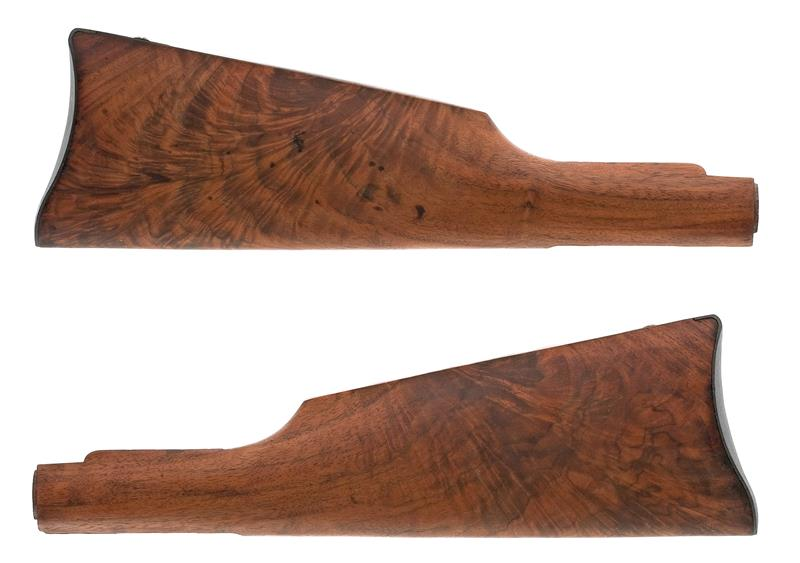 Stock w/ Saddle Ring Carbine Buttplate, No Medallion Cut, Refinished, Plain