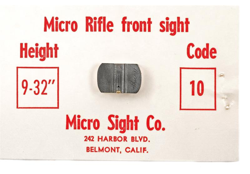 Front Sight, Dovetail, Micro Sight Co #10, New