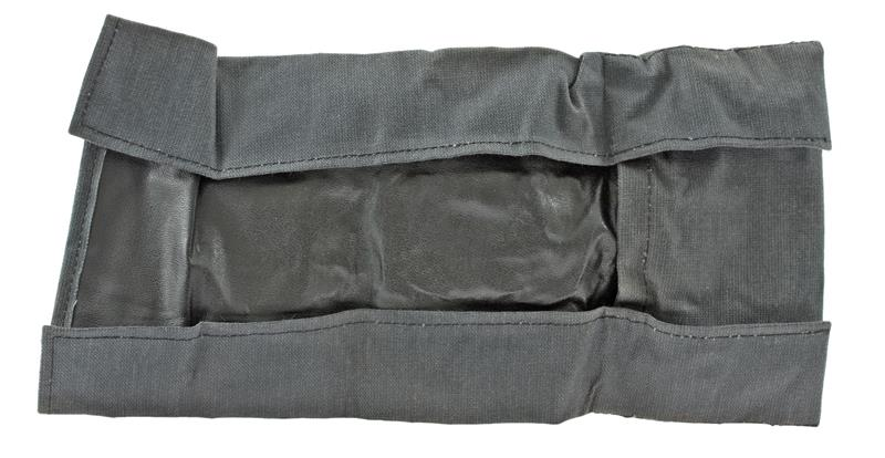 Cleaning Kit Roll Pouch, Gray Rubberized Fabric, Unissued East German