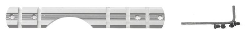 Scope Base, One-Piece, Silver (Fits S/A w/ Round Receiver & Accu-Trigger)