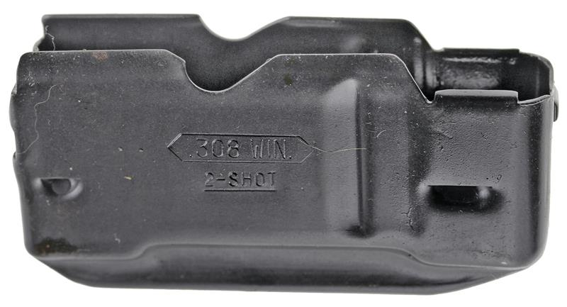 Magazine Box, .308 Cal., 2 Shot, Stripped, Original, Old Style, Blued Steel