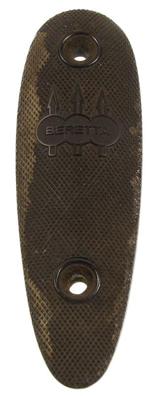 Buttplate,Checkered Black Plastic w/3 Arrows & 3 Interlocking Circles-Beretta