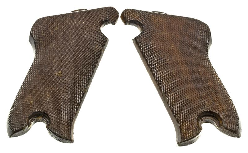Grips, Original Checkered Wood w/ Right Thumbrest