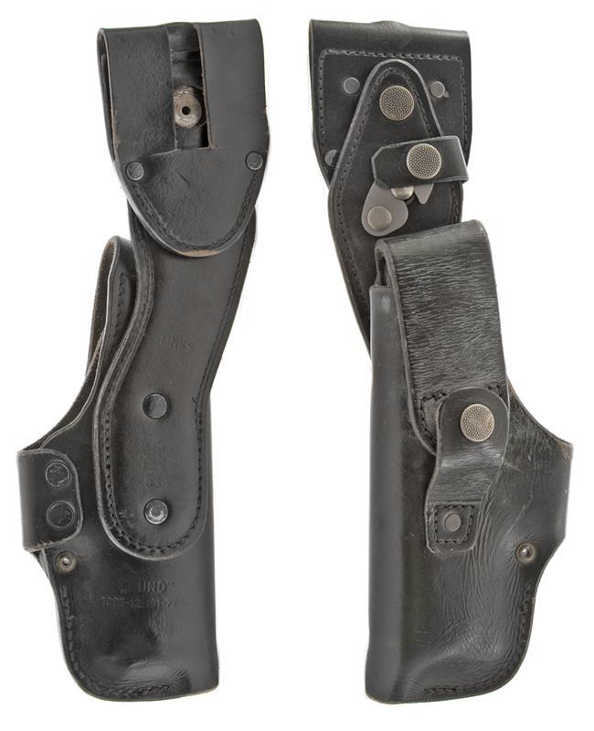 Holster, LH, Black Leather, Used (w/ Swivel Release Belt Loop; German Issue)