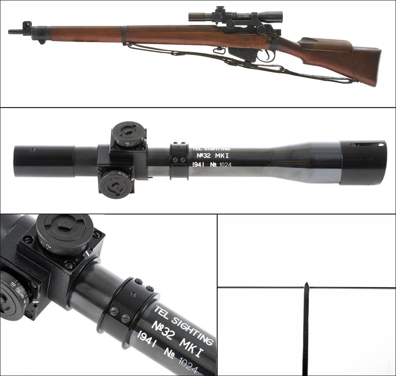 Sniper Scope w/ Sliding Sun Shade, No. 32 MKI, Reproduction