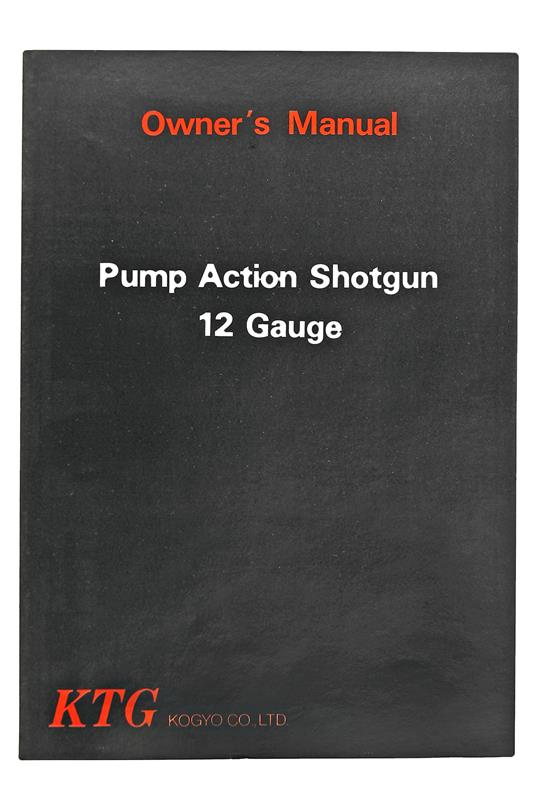 KTG Pump Shotgun Owners Manual