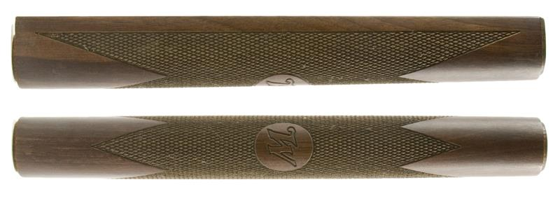 Forend, Octagon, Walnut, Checkered, Satin Finish, 10-7/8
