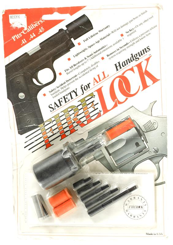 Firelock Safety Device for .41/.44/.45 Cal. Handguns, New Factory Original