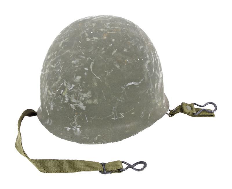 Helmet w/ Non-Seamed Rim & Chin Strap, Used