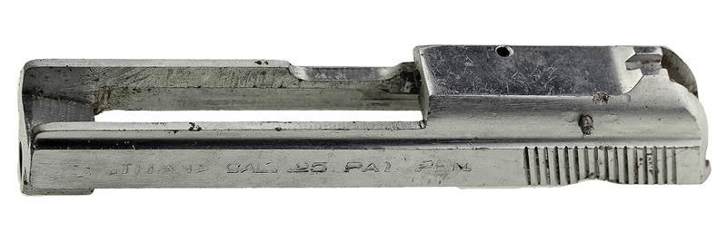 Slide, .25 Cal., Stripped, Chrome (Takes Type I Firing Pin)