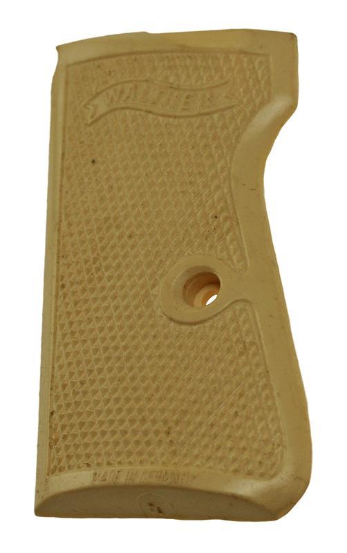 Grip, Original, Left, w/o Escutcheon, Simulated Ivory, Used Factory Original